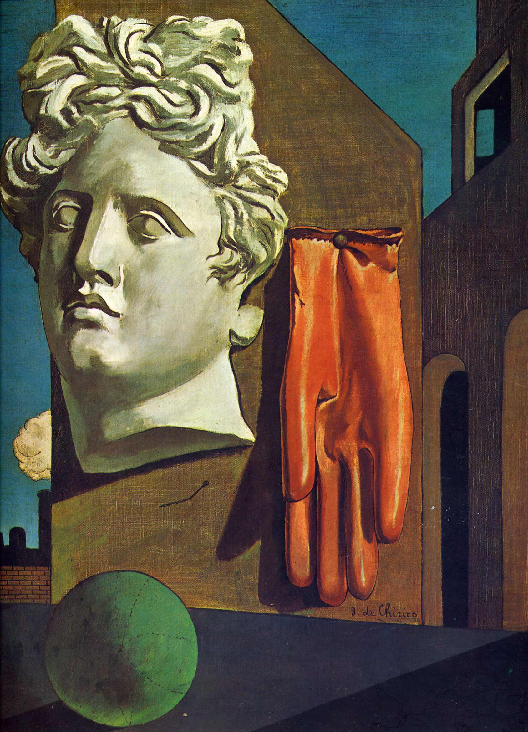 Giorgio de Chirico - Song of love, 1914